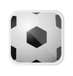 Ball soccer background icon vector