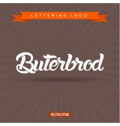 Buterbrod text lettering logo vector