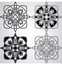 Celtic Design Elements vector image vector image
