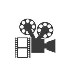 cinematographic camera with cinema icon vector image