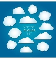 Clouds set 2 vector