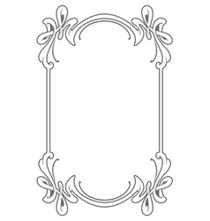 decorative frame in art nouveau style vector image vector image