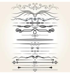 Decorative Rule Lines Design Elements vector image
