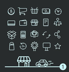 Different modern media web application icons vector image vector image