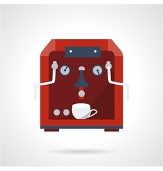Flat style red coffee machine icon vector image vector image