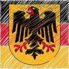 German crest vector