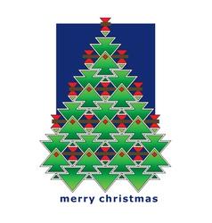 Greeting card christmas tree vector