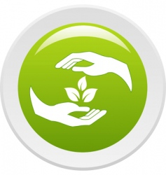 hands and plants vector image
