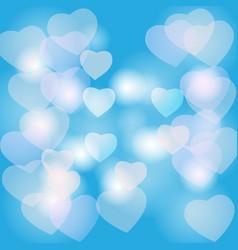 hearts bokeh vector image