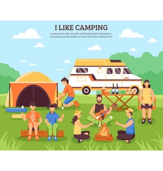 I Like Camping Composition vector image