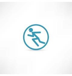 Man running in circle vector image vector image