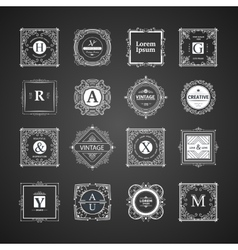 Monogram luxury elements vector image