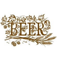 Ornate beer lable vector