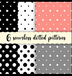 polka dots seamless patterns vector image vector image
