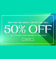Sale and offer promo template with beautiful vector