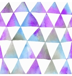Seamless watercolor pattern with triangles vector image vector image