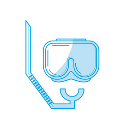 Silhouette diving mask to be underwater adventure vector