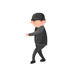 thief or robber character cartoon vector image vector image