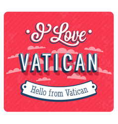 Vintage greeting card from vatican vector