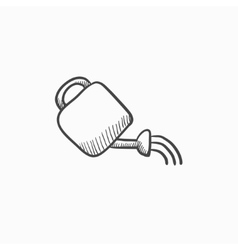 Watering can sketch icon vector image