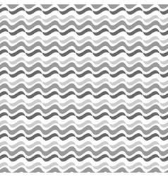 Wavy line gray seamless pattern vector