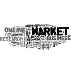 What market research can do for your online vector