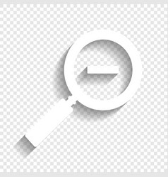 Zoom sign white icon with vector