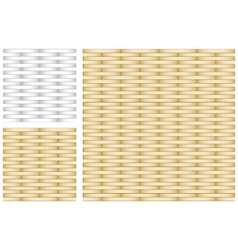 Set of Abstract Gold and Silver Texture vector image