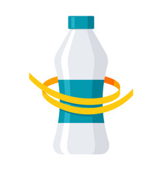 Diet drink concept vector