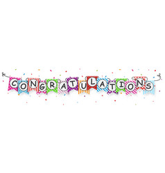 Congratulations banner with bunting flags vector