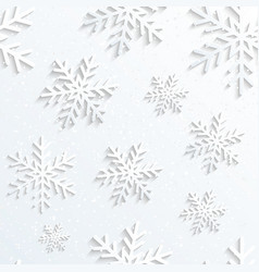 Christmas snowflake white background vector