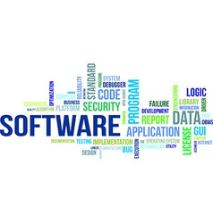Word cloud software vector