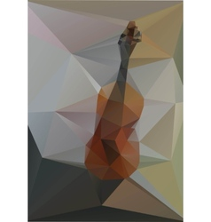 Violin geometry of triangles on a gray background vector