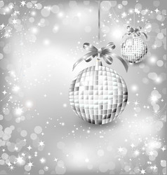 Silver of empty snowglobes Chrisymas background vector image