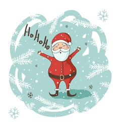 Christmas santa greeting card vector
