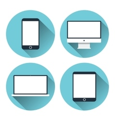 Modern electronic devices icon set vector