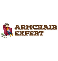 Armchair expert idiom on white vector