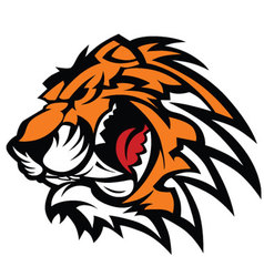 Tiger mascot graphic vector