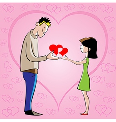 he and she vector image