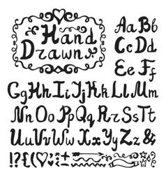 Alphabetink hand drawn lettersblack vector