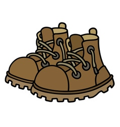 Funny leather boots vector