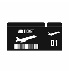 Airline boarding pass icon simple style vector