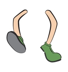 Cartoon reaching legs vector