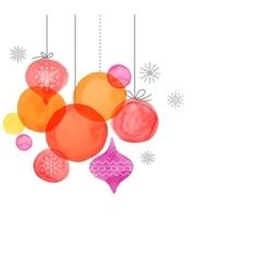 Christmas backgound watercolor vibrant colors vector