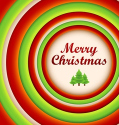Circle Christmas greeting card and background vector image