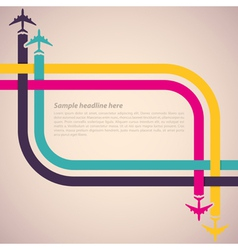 Colorful airplanes vector