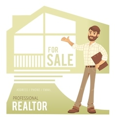 Concept of real estate services agent showing a vector