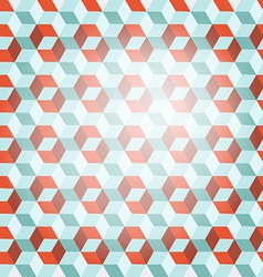 Cube Retro Background vector image vector image
