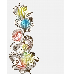 floral vertical ornament vector image vector image