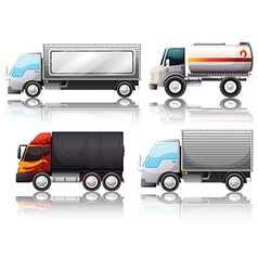 Four types of trucks vector image